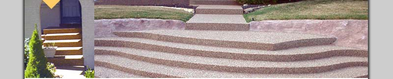 Kreative Concrete Resurfacing Colorado epoxy and stone steps photos