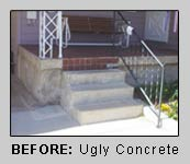 BEFORE: ugly concrete